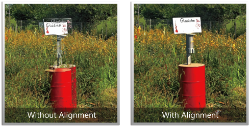 Improved alignment algorithm corrects the problem of moving objects