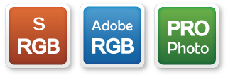 sRGB, AdobeRGB and ProPhoto color space management